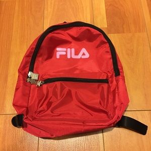 Fila mini backpack red with pink fila letters